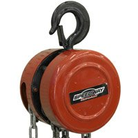 North American Tool 7518 Chain Hoist, 1 ton, Steel