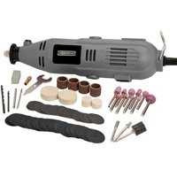 North American Tool 51832 Corded Rotary Tool Kit, 12 V, 135 W Keyless Chuck, 10000 - 32000 rpm