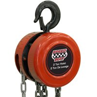 North American Tool 7519 Gear Driven Chain Hoist, 2 ton