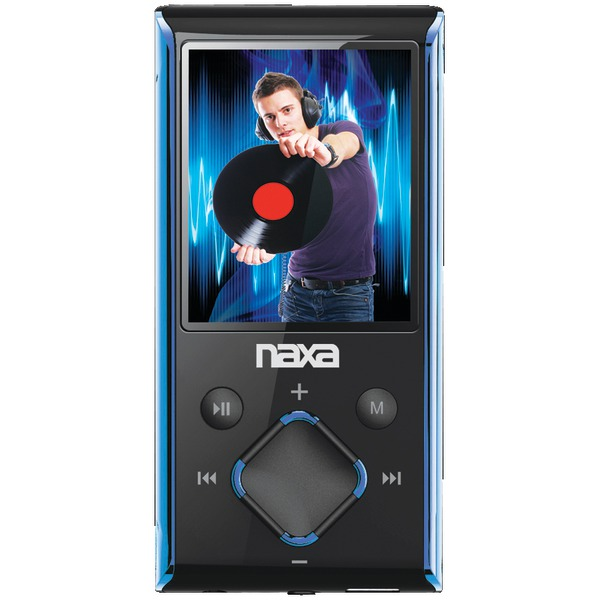 "NAXA NMV173NBL 4GB 1.8"" LCD Portable Media Players (Blue)"