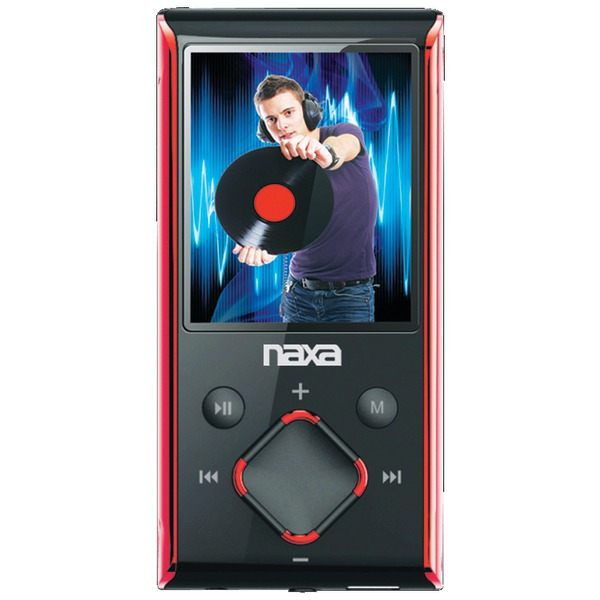 "NAXA NMV173NRD 8GB 1.8"" LCD Portable Media Players (Red)"