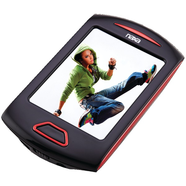 "NAXA NMV179RD 8GB 2.8"" Touchscreen Portable Media Players (Red)"