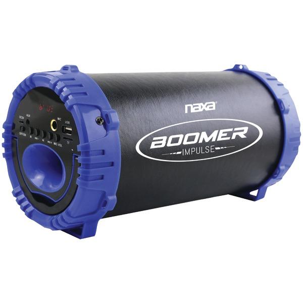 Naxa NAS-3084 BLUE BOOMER IMPULSE LED Bluetooth Boom Box (Blue)