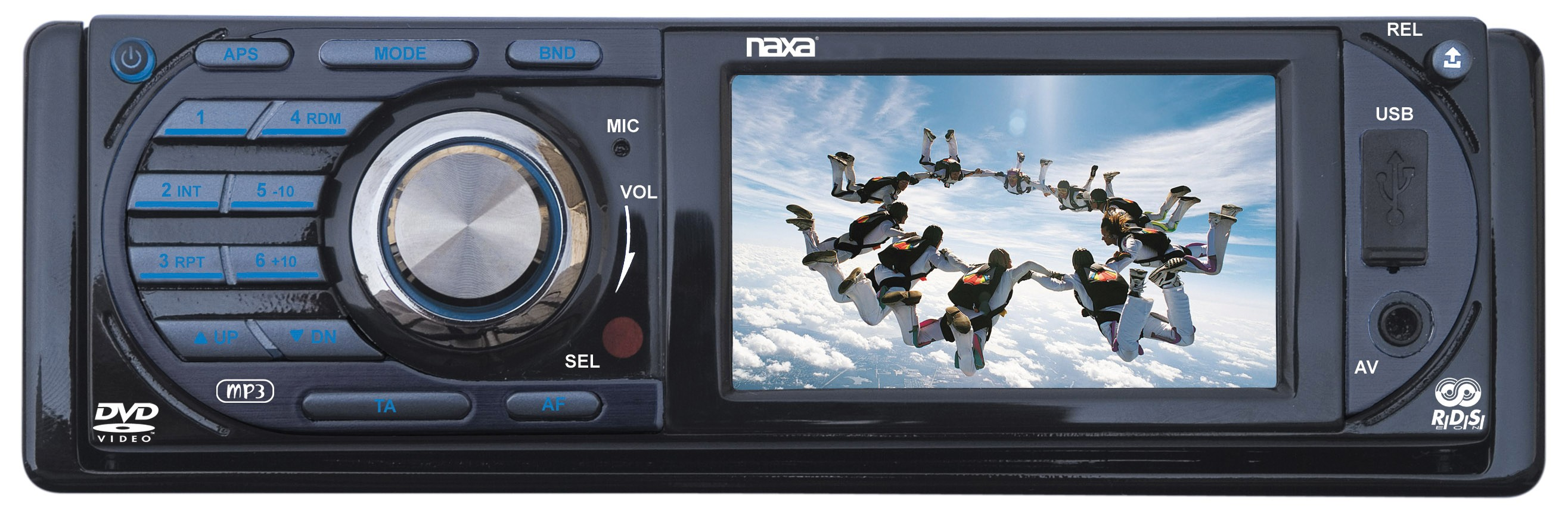 NAXA NCD691 CAR STEREO 3INCH LCD DISPLAY FOLD DOWN DETACH PP