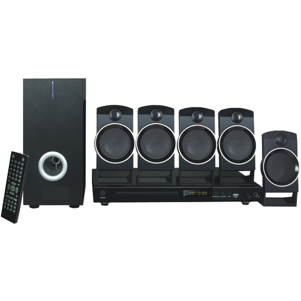 NAXA ND859 5 1 CHANNEL HOME THEATER DVD & KARAOKE SYSTEM