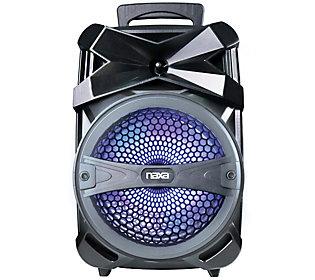 NAXA NDS-8004-BK BLACK PORTABLE PARTY SPEAKER WITH LED LIGHTS