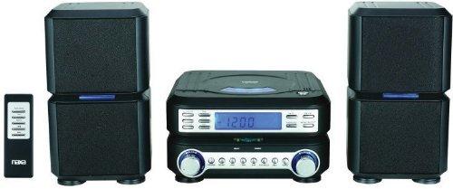 NAXA NS-438 DIGITAL CD MICROSYSTEM WITH AM FM RADIO