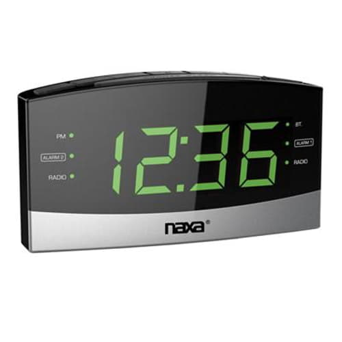 BT Alarm Clock w USB Chrgr Prt