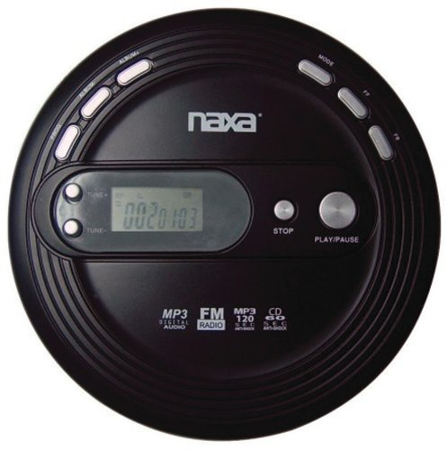 Naxa Slim Personal CD Player With Fm Scan Radio