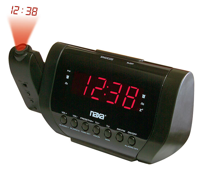 Naxa Projection dual alarm clock radio