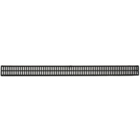 NDS 543 Mini Channel Grate With UV Inhibitor, 3 ft, 14.80 gpm/ft, Foam, Black