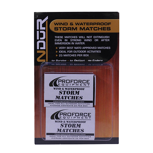 NDuR Storm Matches, 2 Pack