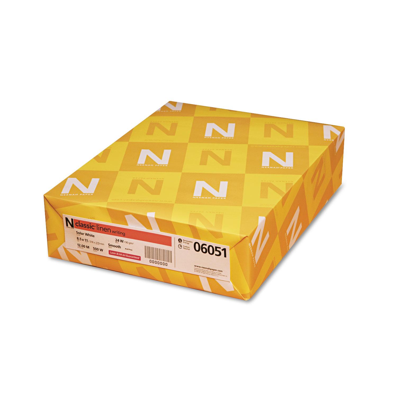 CLASSIC Linen Paper, 24lb, 97 Bright, 8 1/2 x 11, Solar White, 500 Sheets