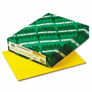 Color Paper, 24lb, 8 1/2 x 11, Solar Yellow, 500 Sheets