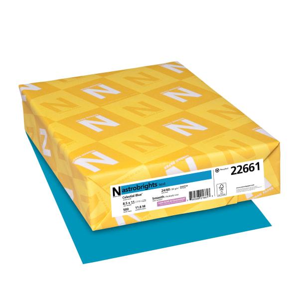 Color Paper, 24lb, 8 1/2 x 11, Celestial Blue, 500 Sheets