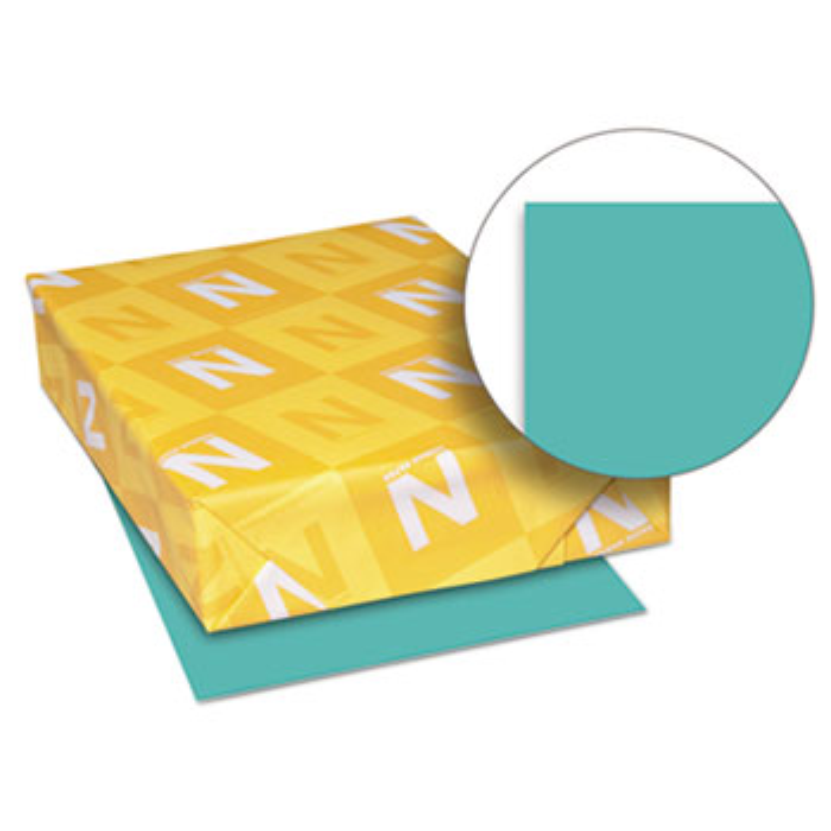 Exact Brights Paper, 8 1/2 x 11, Bright Aqua, 20lb, 500 Sheets