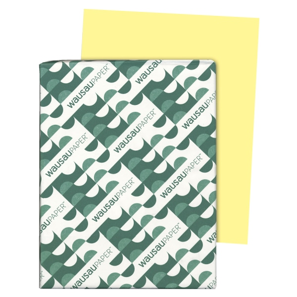 Exact Index Card Stock, 90lb, 8 1/2 x 11, Canary, 250 Sheets