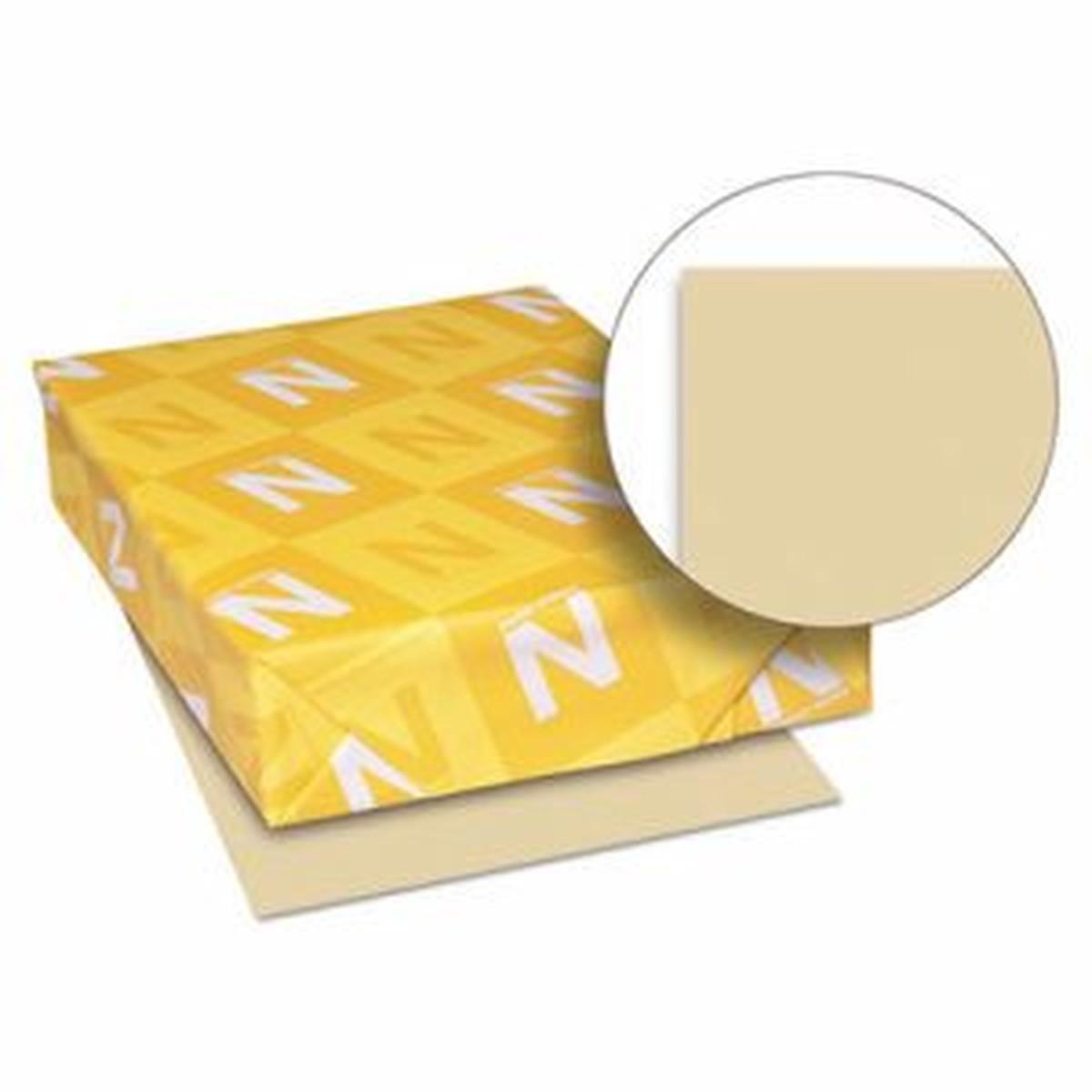 Exact Vellum Bristol Cover Stock, 67lb, 8 1/2 x 11, Tan, 250 Sheets