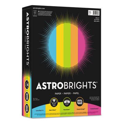 """Color Paper -""""Bright"""" Assortment, 8 1/2 x 11, 5 Colors, 24lb, 500 Sheets"""