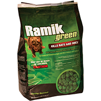 Ramik Hacco 116336 Mouse Killer, 4 lb, Pouch, Green