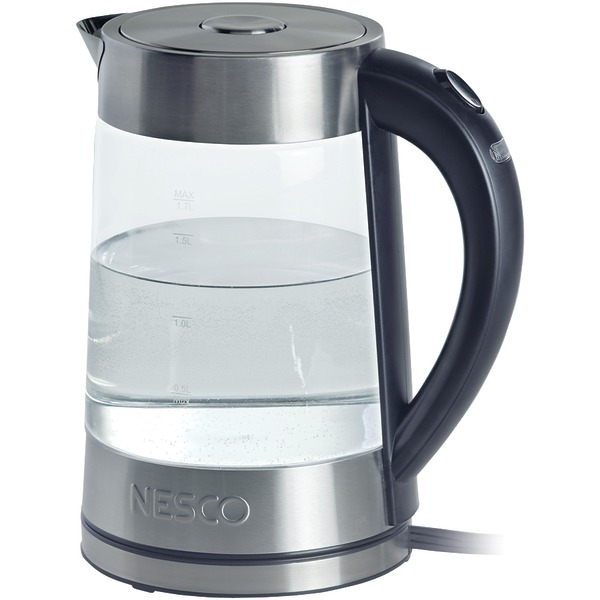 NESCO GWK-02 1.8-Liter Electric Glass Water Kettle