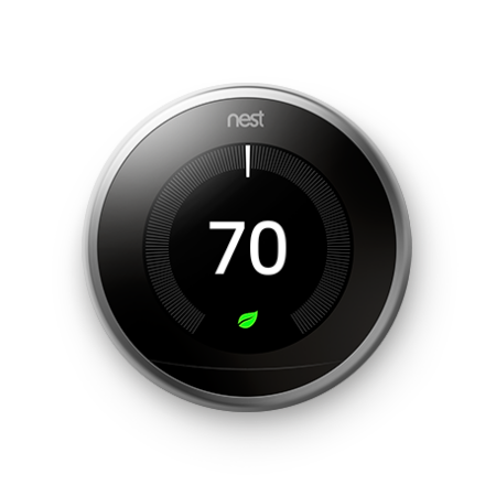 NEST LEARNING THERMOSTAT STAINLESS