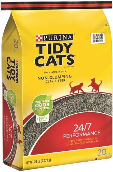Tidy Cats 7023010720 24/7 Performance Convenetianion Cat Litter, 20 lb Dura Weave Bag, Tan/Grey
