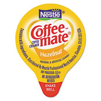 Liquid Coffee Creamer, Hazelnut, 0.375 oz Cups, 180/Carton