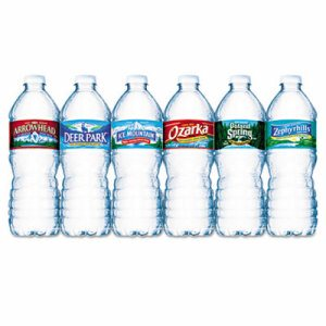 Bottled Natural Spring Water, .5L, Bottles, 24/Carton