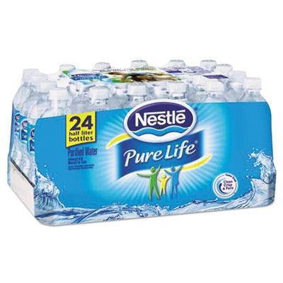 Pure Life Purified Water, 16.9 oz Bottle, 24/Carton