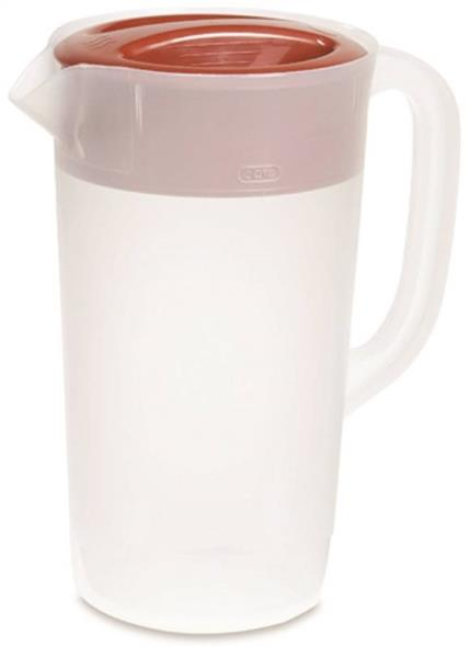 Rubbermaid 1777154 Covered Pitcher, 2-1/4 qt, 5-1/4 in Dia x 9-1/2 in L, Plastic, Clear