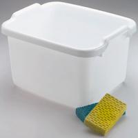 Rubbermaid 2970ARWHT Dish Pan, 15.6 qt Capacity, 15.23 in W x 7.8 in L x 12.46 in H, Plastic