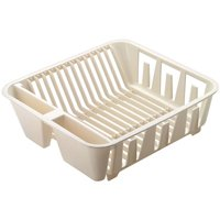 Rubbermaid FG6049ARWHT Small Dish Drainer, 13.92 in L x 12.65 in W x 4.55 in H, Plastic, White