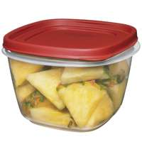 Eazy Find Lids 1777088 Square Food Container, 7 Cup, Plastic, Clear