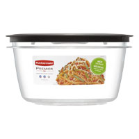 Rubbermaid 7H77 Square Small Food Container, 5 Cup, 7-1/8 in L X 7-1/8 in W X 3.56 in H, Clear