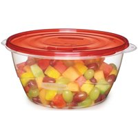 Take Alongs 1787831 Round Covered Serving Bowl Container, 13 Cup, Polypropylene Clear
