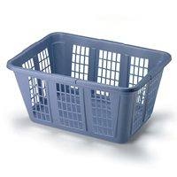 Rubbermaid FG296585ROYBL Laundry Basket, 1.6 bushel, 15-1/2 in H x 23.36 in W x 16.99 in D