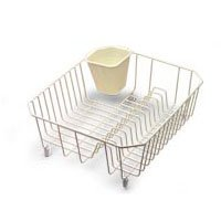 Rubbermaid FG6008ARBISQU Small Dish Drainer, 14.31 in L x 12.49 in W x 5.39 in H, Steel, Bisque