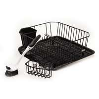 Rubbermaid 1F91MABLA Sinkware Set, 14.38 in L x 12.41 in W x 5.39 in H, Black