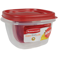 Eazy Find Lids 1777085 Square Food Storage Container, 2 Cup, 15.4 in L X 5.19 in W X 10.7 in H