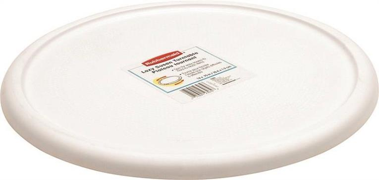 Rubbermaid Lazy Susan Turntable, 13.98 in Dia x 0.88 in H, White