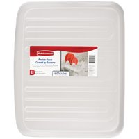 Rubbermaid 1182MACLR Large Drain Board Tray, 19.1 in L x 15.1 in W, Plastic, Clear