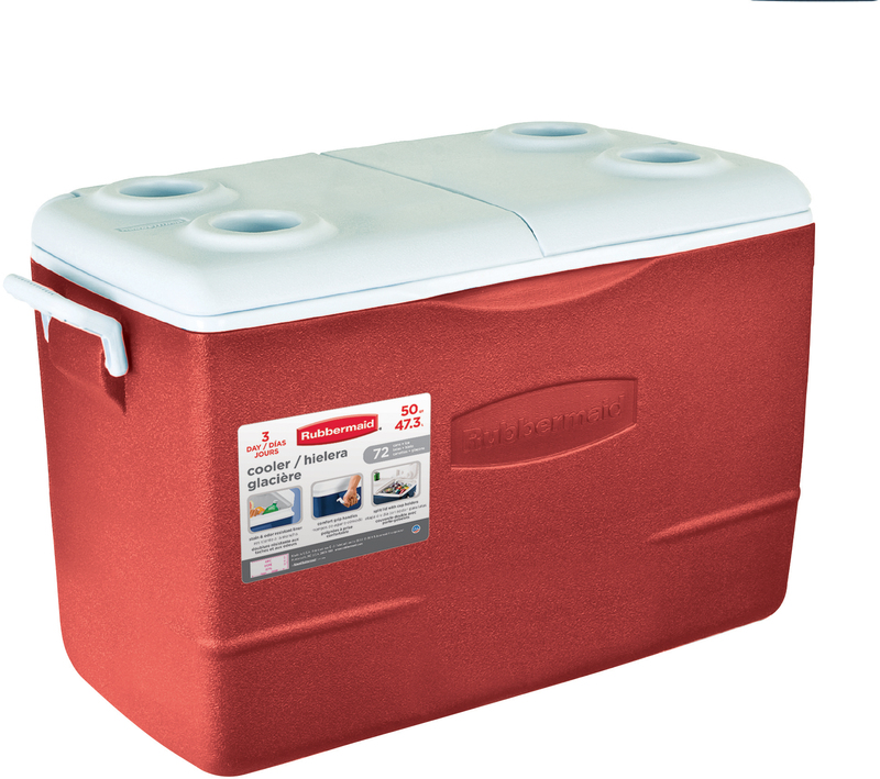 50 Quart Non-Wheeled Red Cooler