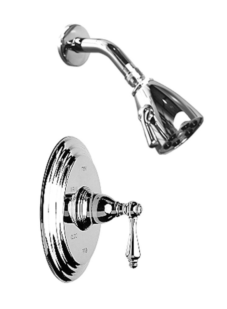 1 Handle Lever Pressure Balance Shower Trim Only Polished Chrome