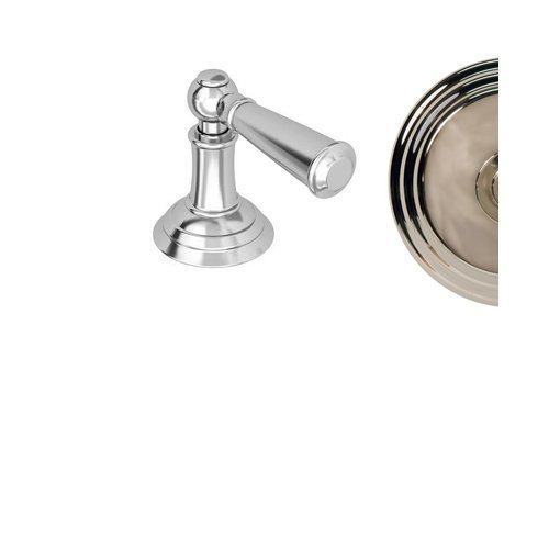 1 Handle Metal Lever With Escutcheon Polished Nickel