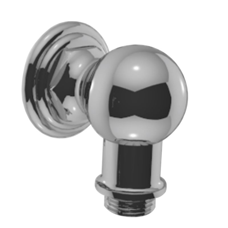 Polished Chrome T*s Wall Supply Elbow For Hand Shower Hose