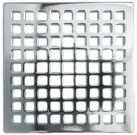 4 Shower Drain Satin Bronze Polished Chrome