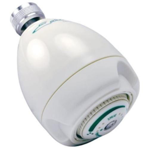 NIAGARA SHOWER HEAD 1.7 GPM FLOW WHITE