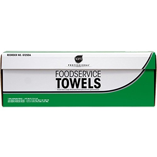 Dry Foodservice Towel, 1-Ply, 15 x 7 1/2, White, 200/Roll, 4 Roll/Carton