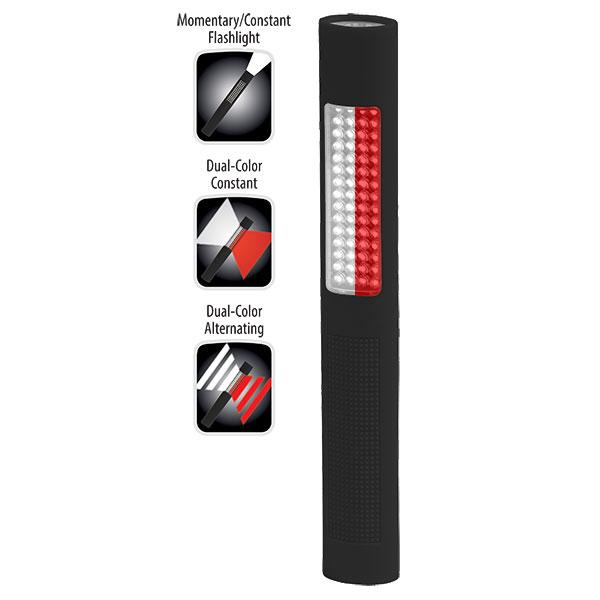 NightStick LED Safety Light Alternat RedWhite Floodlight White Flashlight Black Soft Touch